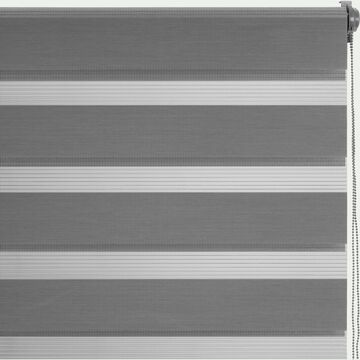 Store enrouleur tamisant - gris anthracite122x190cm-JOUR-NUIT