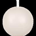 Bougie ronde blanc nougat D8cm-HALBA