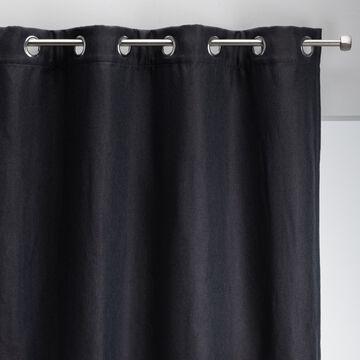 Rideau à œillets en polyester - gris calabrun 135x300cm-PINEDE