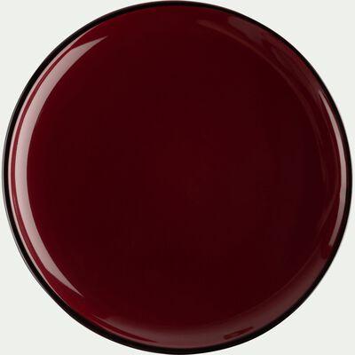 Assiette plate en faïence rouge sumac D27cm-LANKA