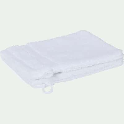 Lot de 2 gants en coton blanc optique-AZUR