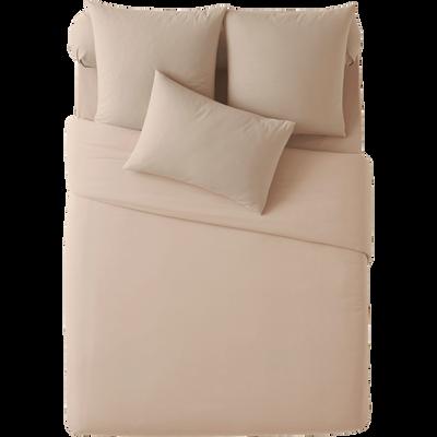 Housse de couette en coton Beige - 220x240 cm-Vitamine