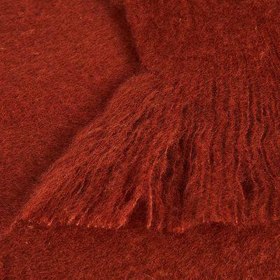Plaid effet mohair rouge 130x170cm-VALENTINE