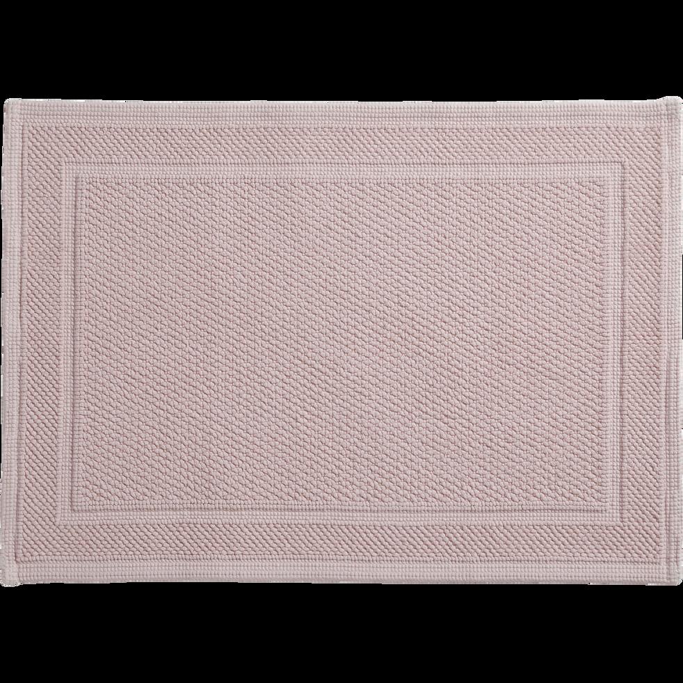 Tapis de bain  rose 50x70cm-CLEM