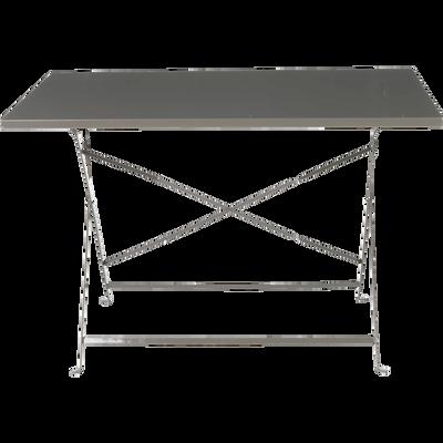 Table de jardin pliante taupe L110cm (2 à 4 places)-CERVIONE