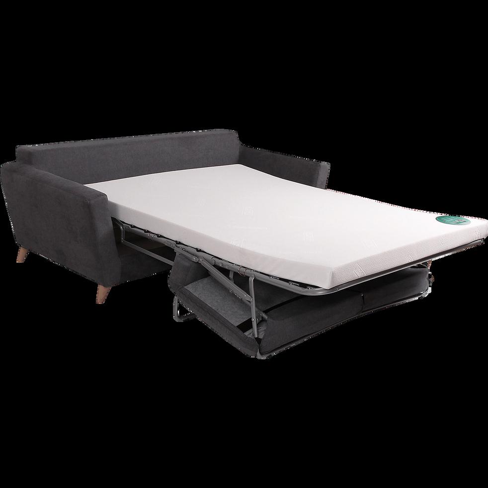 Canapé 3 places convertible en tissu gris-ICONE