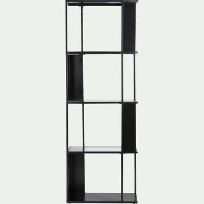 Étagère en métal noir et verre-LOKA