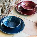 Assiette creuse en faïence rouge sumac D16cm-LUBERON