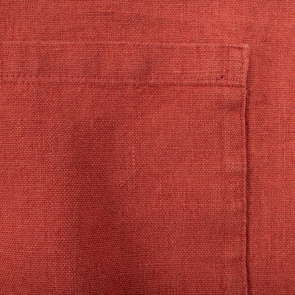 Tablier japonais en lin rouge-OSAKA
