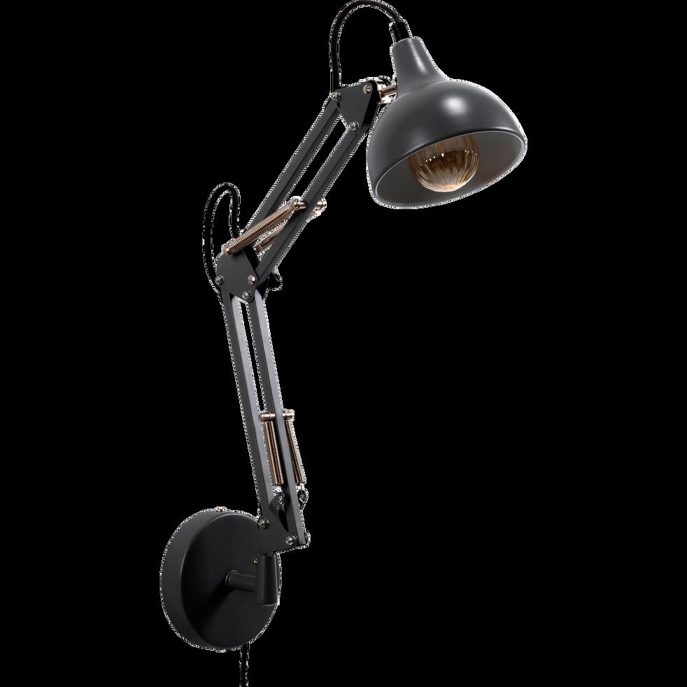 Applique en métal noir 36x40x12cm-XXL