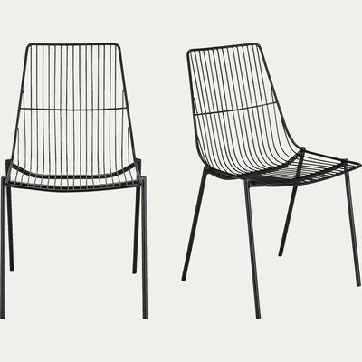 Chaise filaire en acier noir-MARAGE
