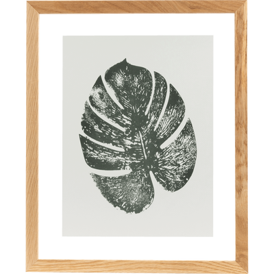 Image encadrée monstera 44x54cm-NATAQUA