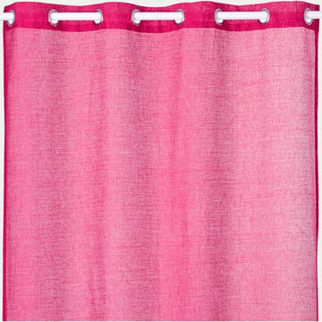 Voilage à œillets en polyester - rose fuchsia 135x250cm-DIESE