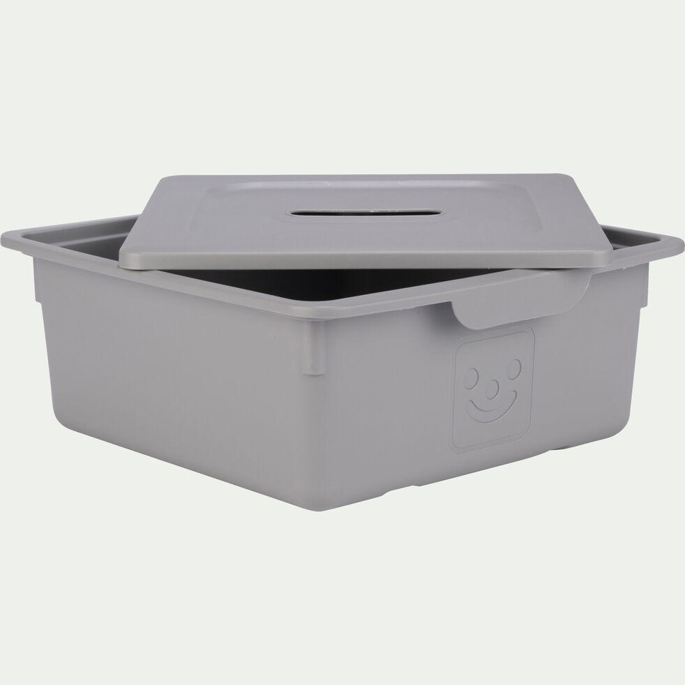Tiroir de rangement 10L gris restanque-ZACCHARIE