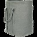 Panier à linge gris D47xH58cm-VICTOR