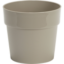 Pot beige en plastique H14,5xD16cm-B FOR