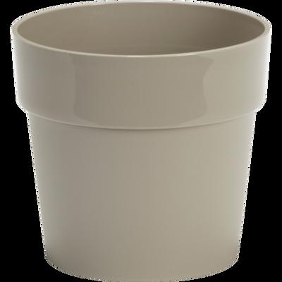 Pot beige en plastique H14,5xD16cm-B FOR