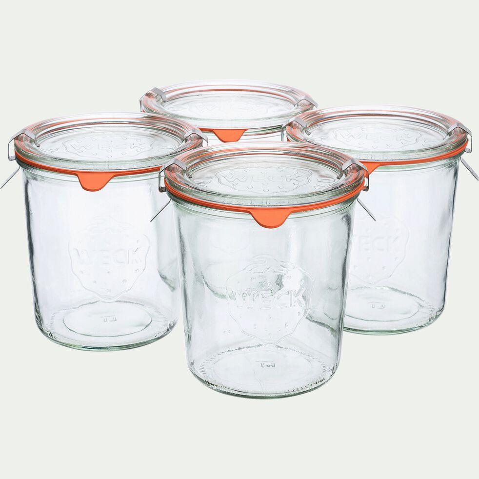 Barquette de 4 bocaux en verre - 580ml-WECK