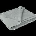 Plaid tricoté en coton gris borie 130x170cm-VERDON