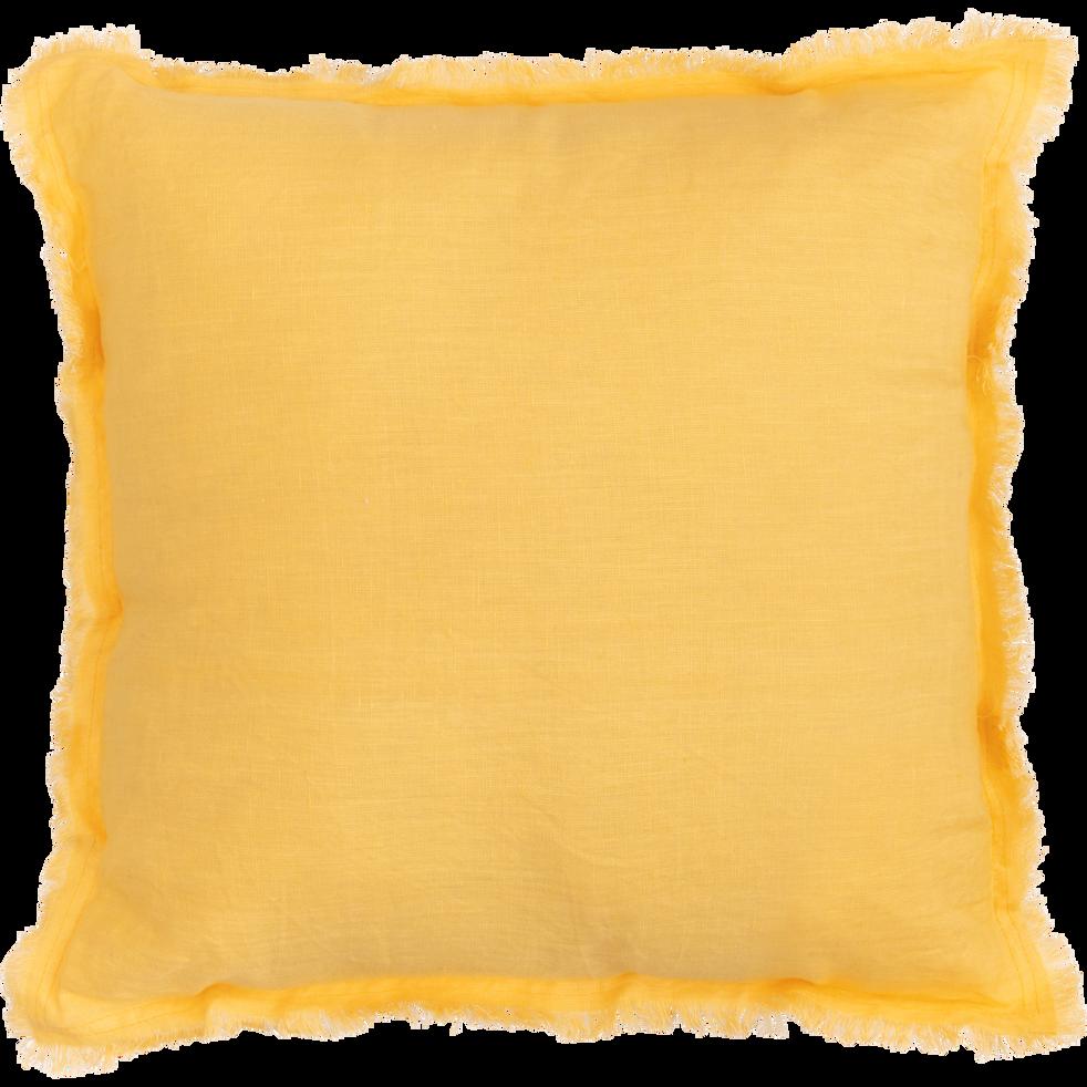 Coussin en lin jaune 40x40cm-VENICE