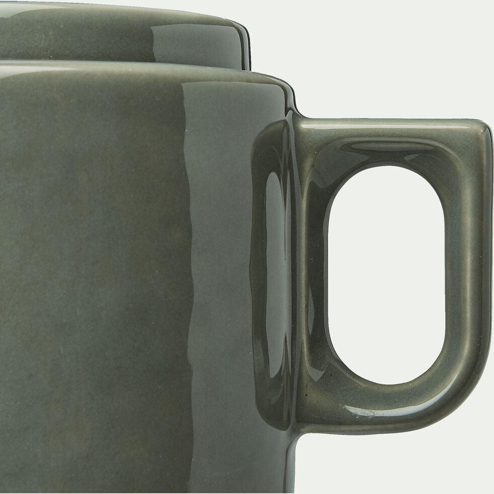 Théière en faïence vert cèdre 45cl-VADIM