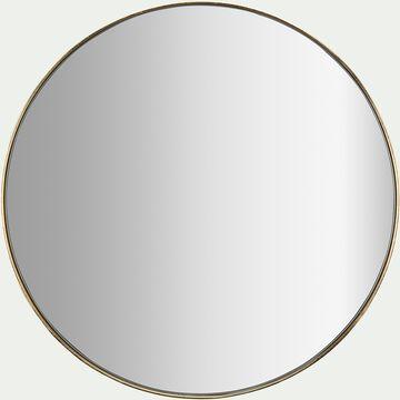 Miroir rond - D30,5xP4cm doré-Oundo