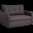 Canapé convertible déplimousse 2 places en tissu gris-VINYL