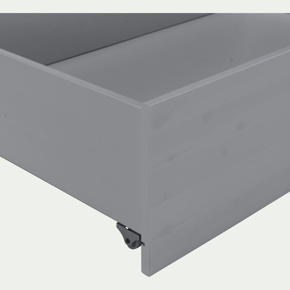 Deux tiroirs coulissant en bois pour lit NOA - L200cm gris-NOA