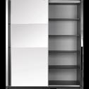 Armoire 2 portes coulissantes en ébène Noir-Slidy