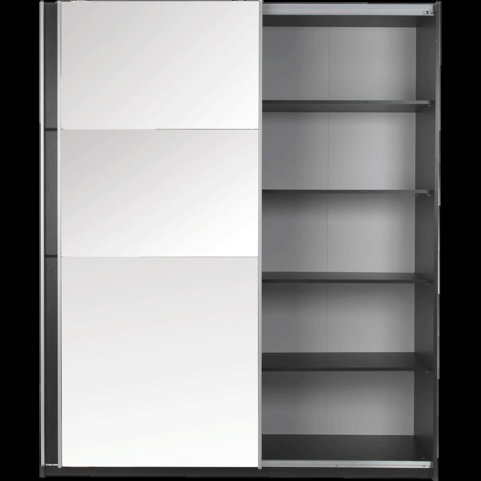 armoire 2 portes coulissantes en b ne noir slidy armoires alinea. Black Bedroom Furniture Sets. Home Design Ideas