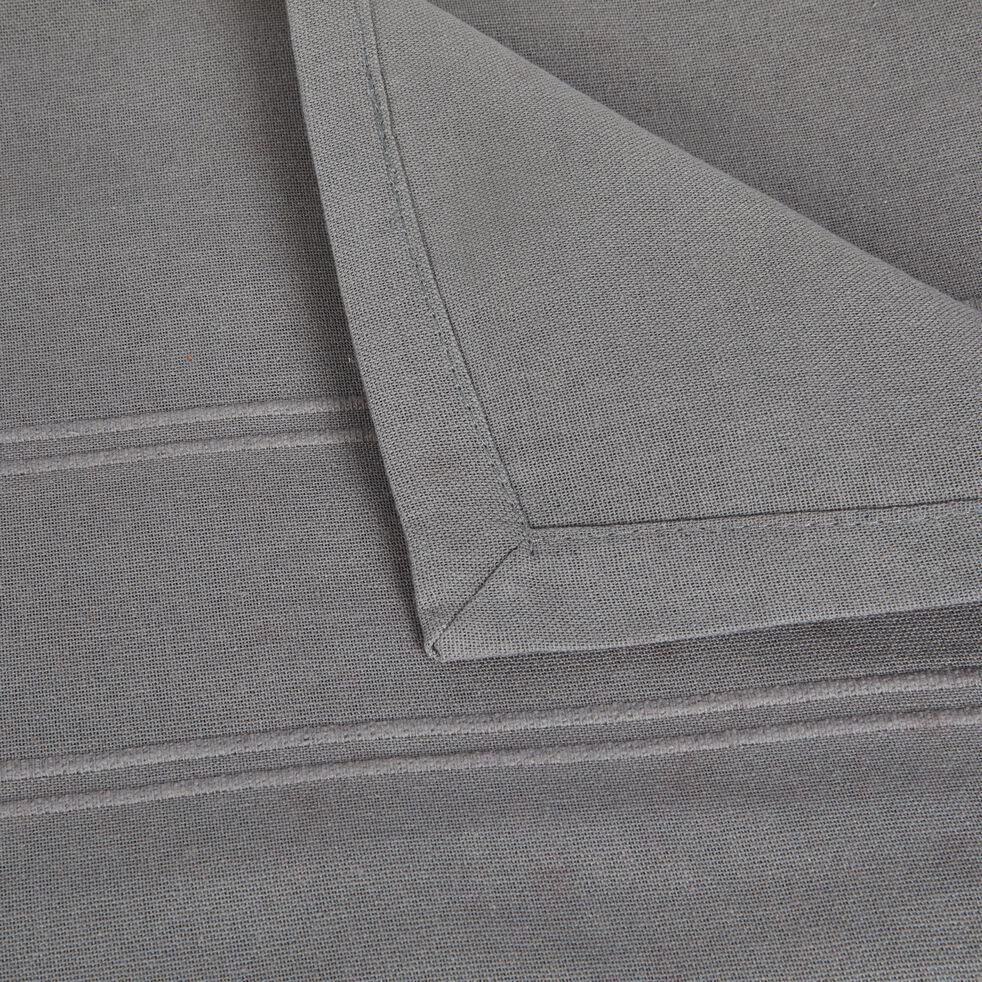Couvre-lit tissé en coton - gris borie 230x250cm-BELCODENE