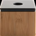 Boite avec couvercle 10.5x10.5cm en bois-THAIS
