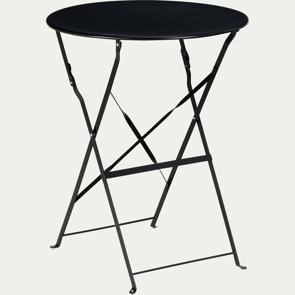 Table de jardin pliante D60cm - noir (2 places)-CERVIONE