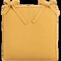 Galette de chaise carrée en coton beige nèfle 38x38cm-BORMES