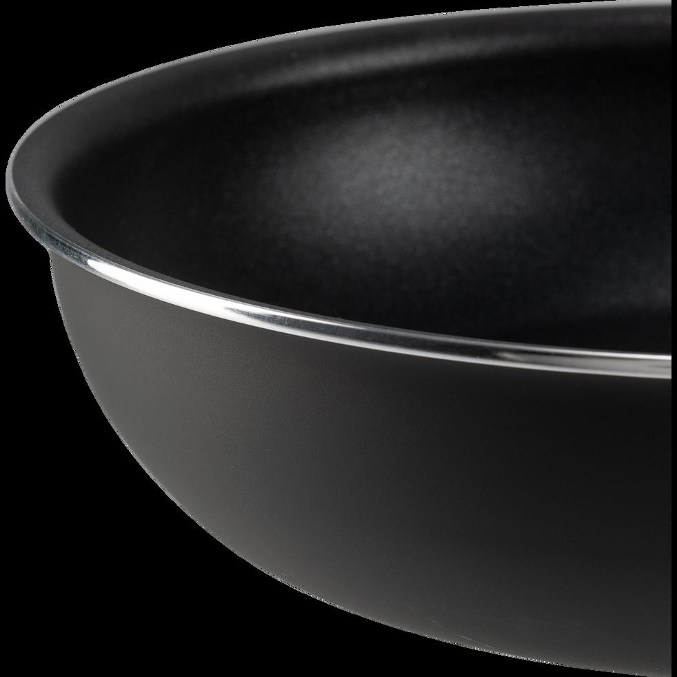 Poêle en aluminium noir D20cm-SOU