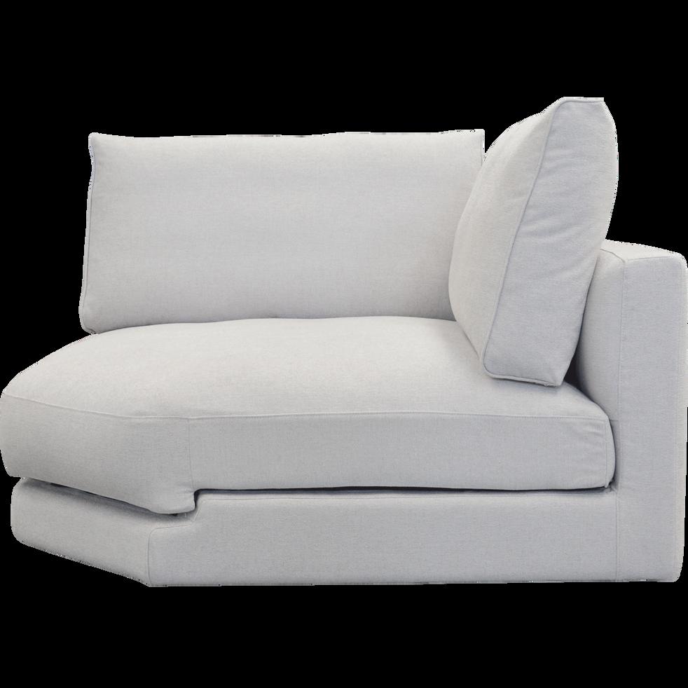 Élément de canapé angle modulable en tissu beige roucas-AUDES