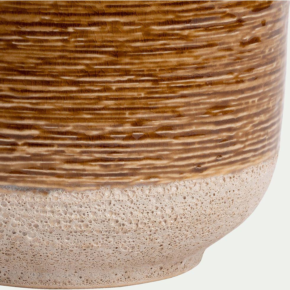 Cache-pot en céramique - miel H17xD18 cm-ISSA