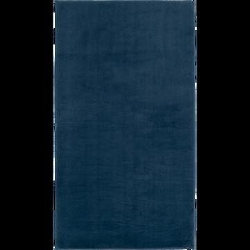 tapis imitation fourrure bleu figuerolles 60x110cm robin. Black Bedroom Furniture Sets. Home Design Ideas