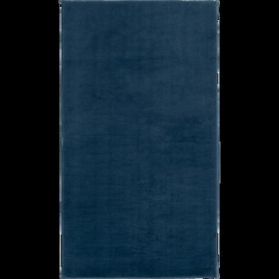 Tapis imitation fourrure bleu figuerolles 60x110cm-ROBIN