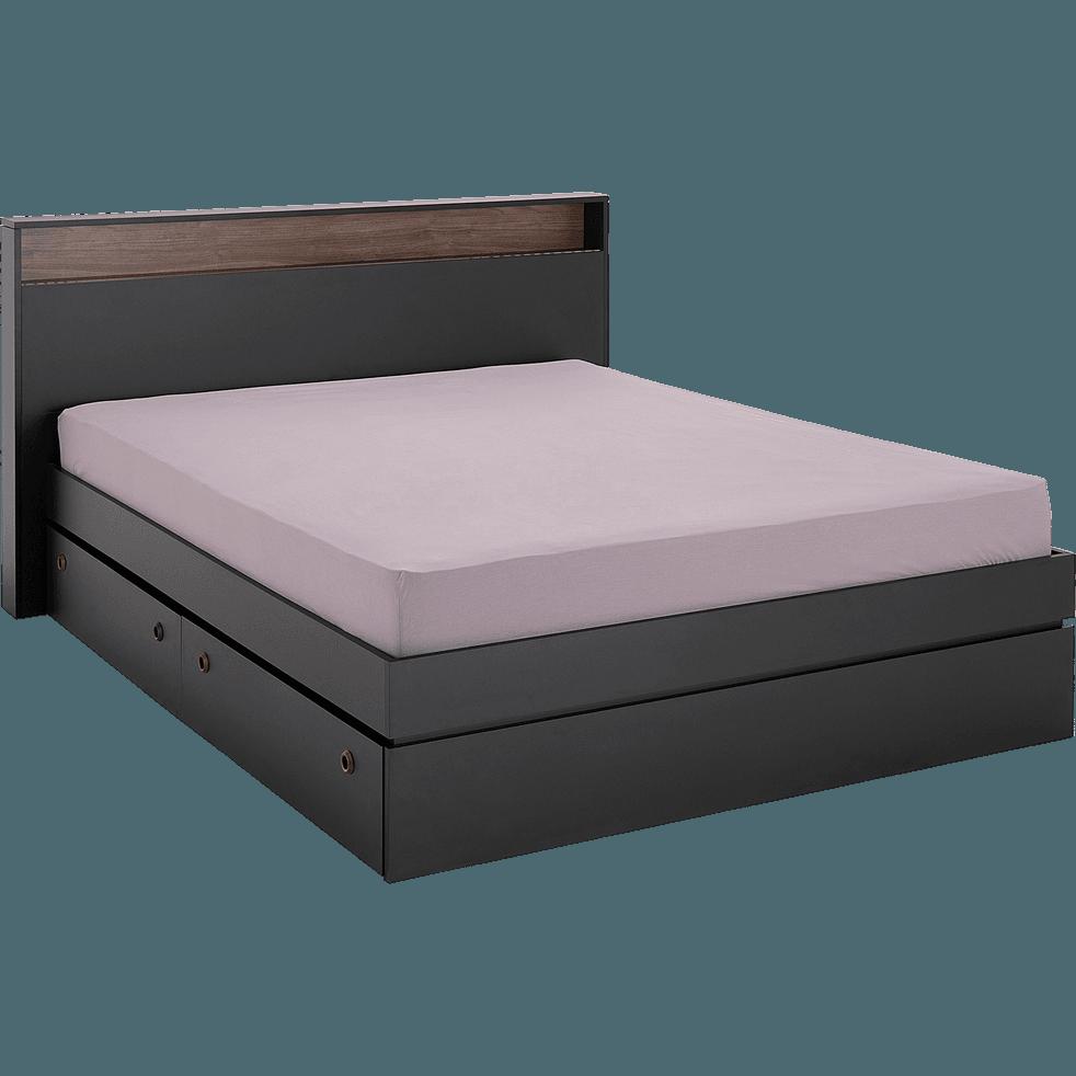 Lot de 2 tiroirs de lit en chêne plaqué-FRIDA