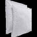 Lot de 2 oreillers synthétiques antibactériens - 60x60 cm-Clean