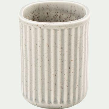 Porte brosse à dent en céramique mouchetée - beige alpilles-NANS