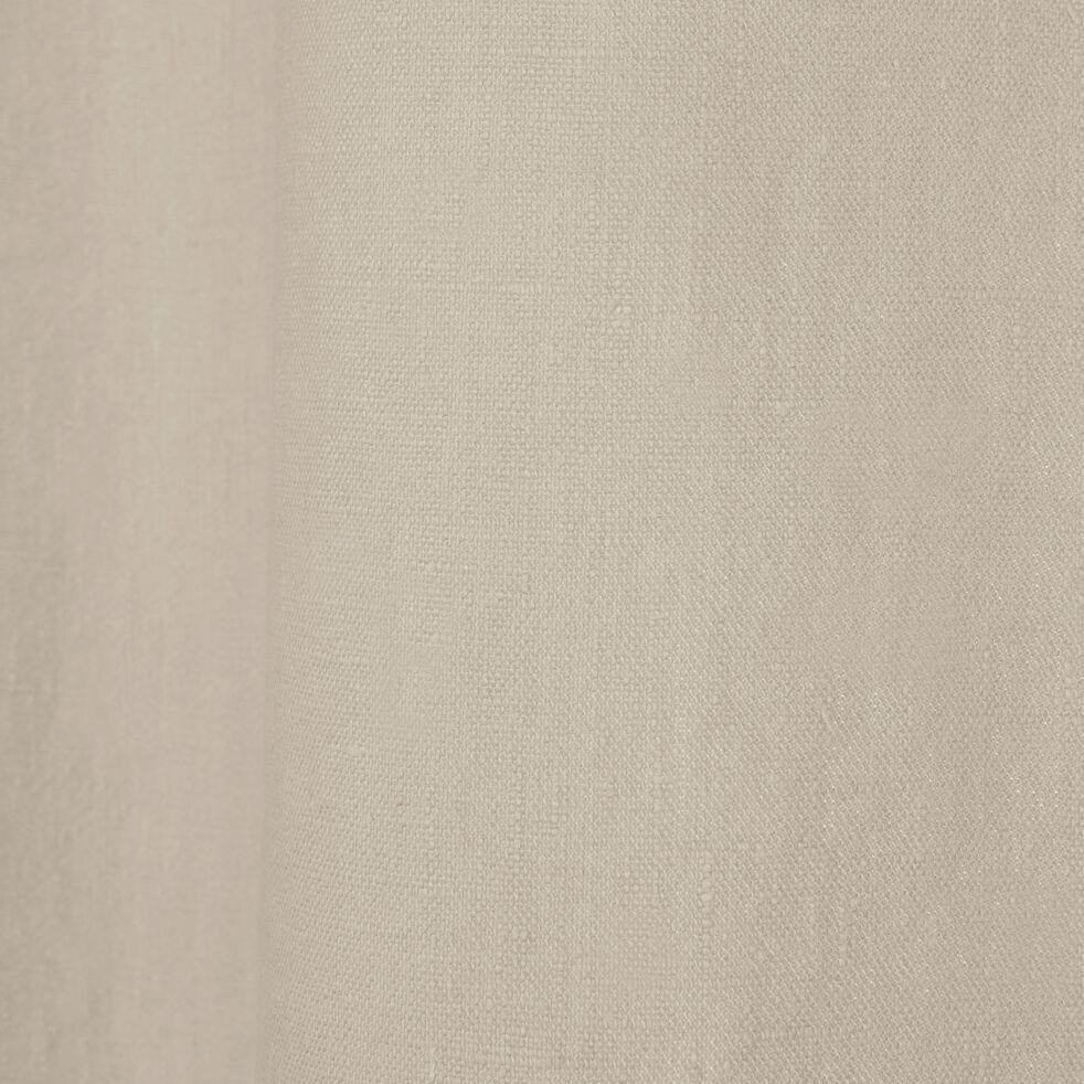 Rideau à œillets en lin lavé - beige roucas 140x360cm-VENCE