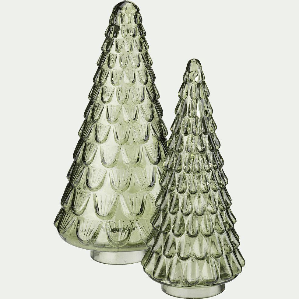 Sapin décoratif en verre - gris H32cm-LISANDRU