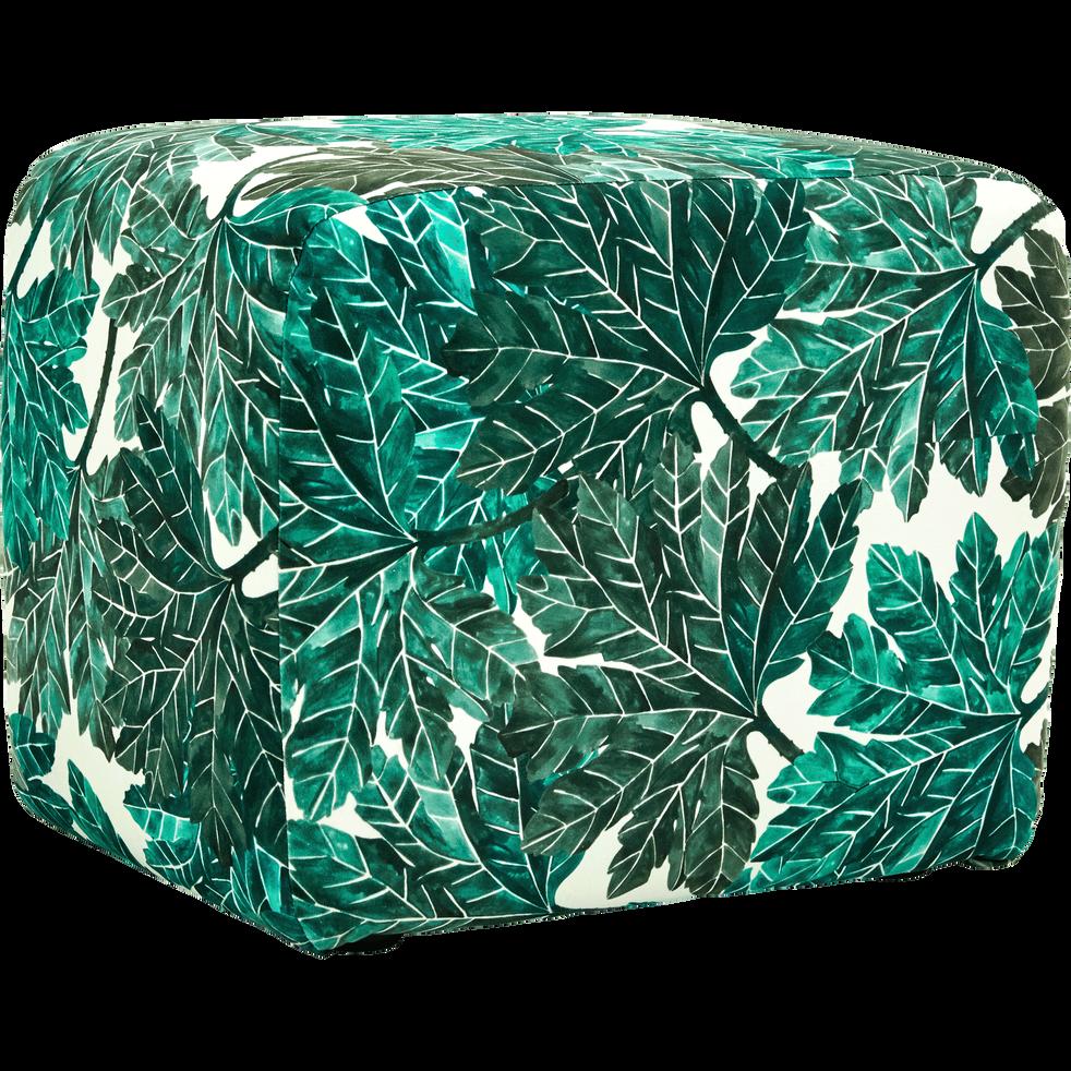 Pouf en tissu motifs corfou.30-CALIFORNIA
