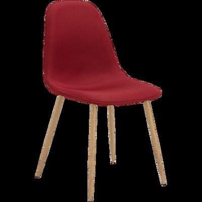 Chaise en tissu rouge-CHARLIE