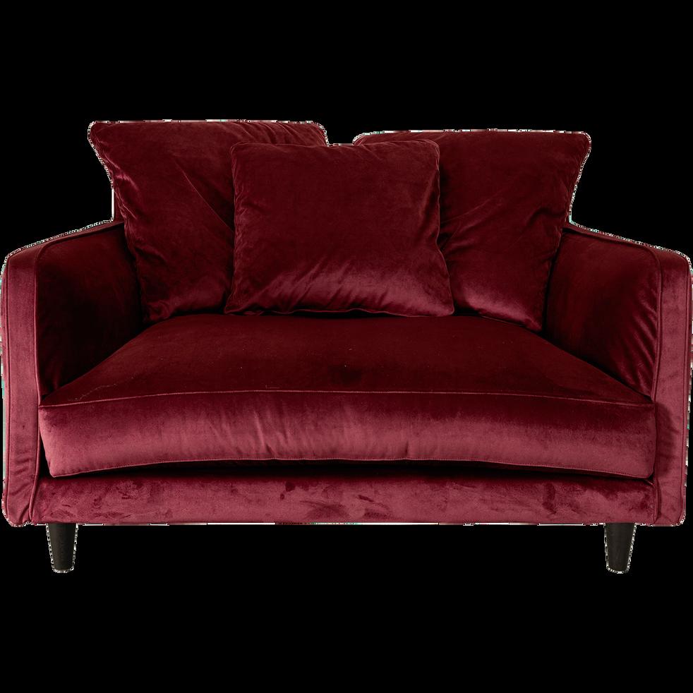 Canapé 1,5 places fixe en tissu sumac-LENITA