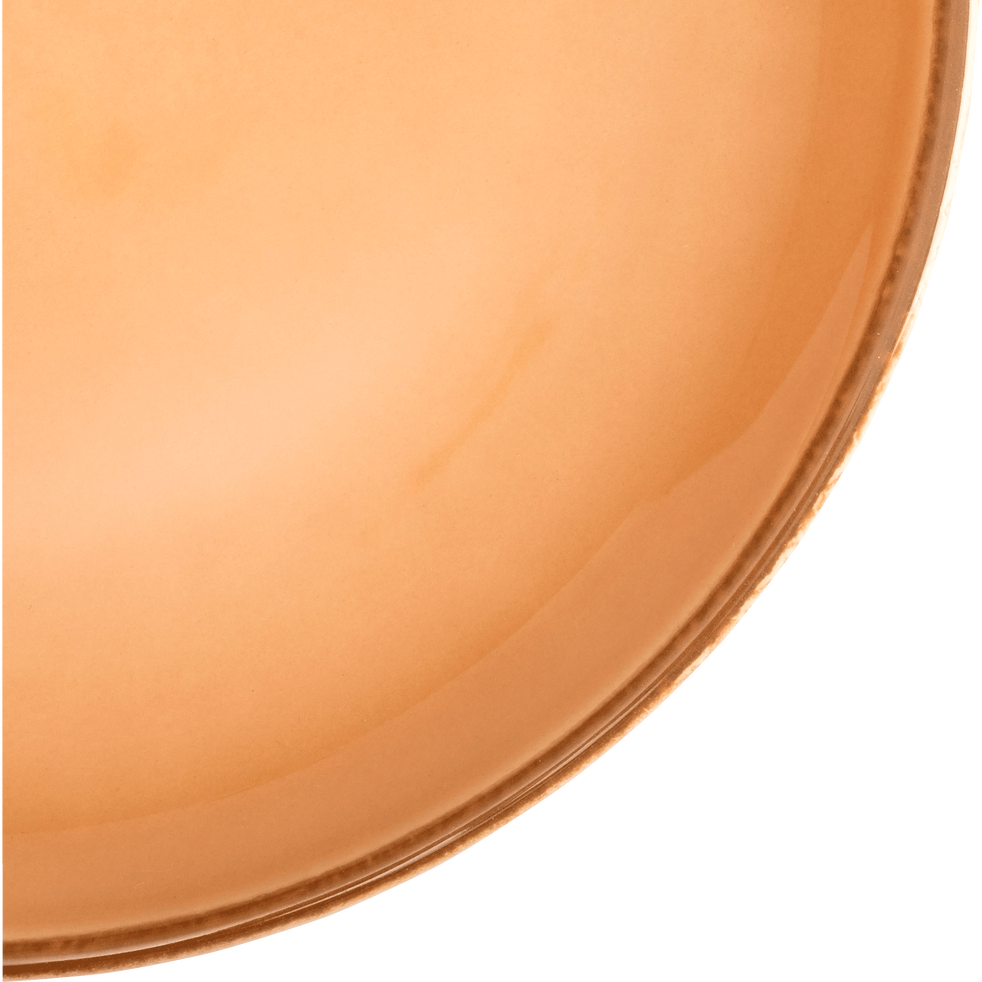 Assiette à dessert en faïence beige nèfle D20cm-LANKA