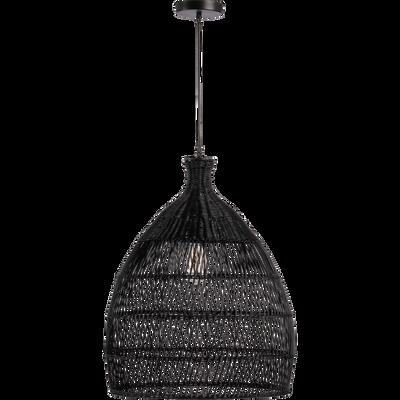 Suspension en rotin noir D49cm-NOAILLES
