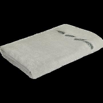 Drap de bain 100x150cm gris borie-AMBIN